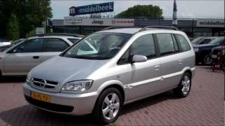 2004 Opel Zafira 1.6, Start up, Reving, Interior, Exterior, Engine ����� ������ ��������� 1.6