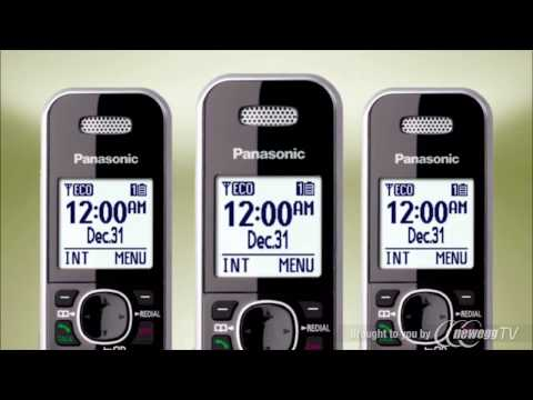 клеточное питание Product Tour: Panasonic 1.9 GHz DECT 6.0 3X Handsets Bluetooth Cellular Convergence Solution